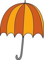 vector objeto aislado doble color paraguas abierto