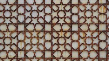 Islamic ornaments from iron that are rusty photo