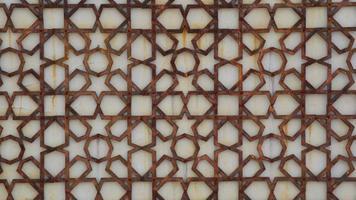 adornos islámicos de hierro oxidado foto