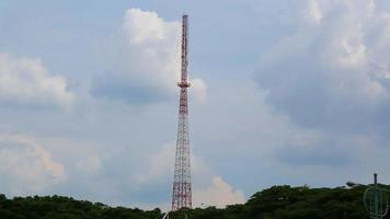 Existing telecommunication towers in the hills photo