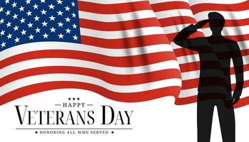 USA Veterans Day Poster. Vector Illustration
