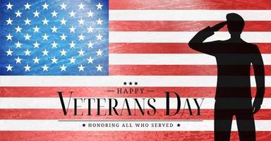 cartel del día de los veteranos de EE. UU. ilustración vectorial vector