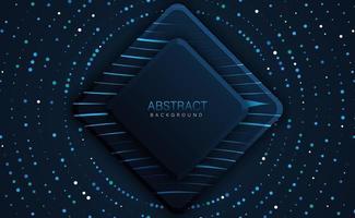 abstract shiny dark blue shape overlap background technology vector