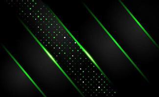 abstract shiny dark green shape overlap background technology vector