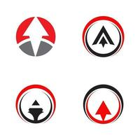 Arrow icon symbol logo design vector