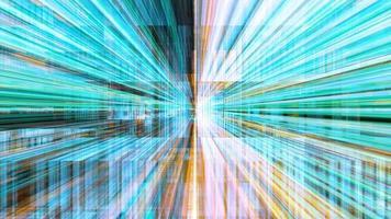 voyager à travers un labyrinthe de stries lumineuses à haute énergie - boucle video