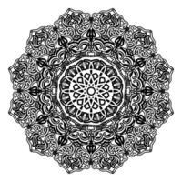 ornamental mandala of abstract meditational illustration henna design vector