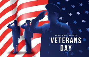 Veterans Days Background vector