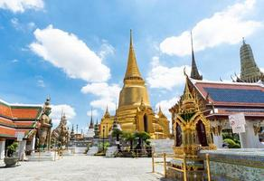 Temple of the Emerald Buddha and the grand palace, Bangkok photo