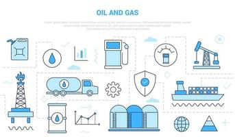 oil and gas industry concept campaign vector