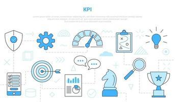 concepto de indicador clave de rendimiento de kpi vector
