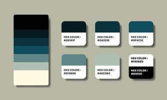 blue palette color swatch vector