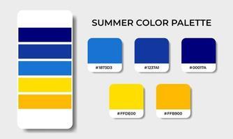 summer color palettes swatch sets vector