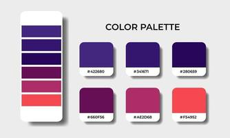 pink and purple color palettes swatch vector