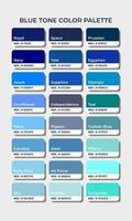 blue tone color palettes swatch sets vector