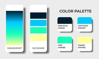 beach color palettes swatch sets vector