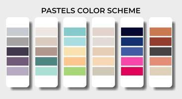 pastels color palettes swatch sets vector