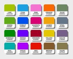 multicolor palettes swatch sets vector