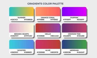 gradient color palettes swatch sets vector