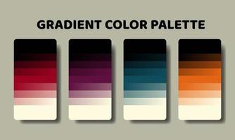 gradient color palette swatch set vector