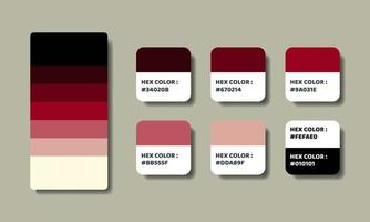 red color palettes swatch sets vector