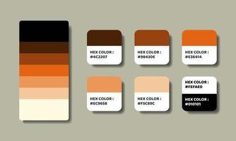 orange color palettes swatch vector
