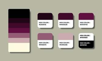 purple color palettes swatch vector