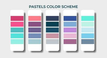 pastel color palettes swatch sets vector