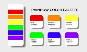 rainbow color palettes swatch vector