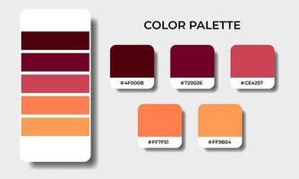 autumn color palettes swatch sets vector