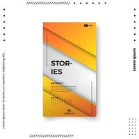 Trendy editable template for social networks stories. vector