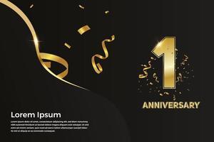 10 year Anniversary celebration. vector