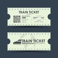 Train ticket vintage concept design. Vector illustration