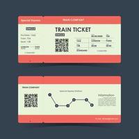 Train ticket concept design. Vector illustration