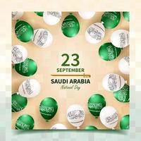 saudi arabia national day social media post vector