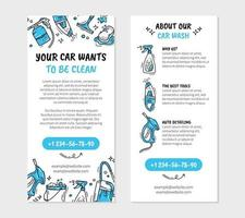 Leaflet flyer for printing for the car wash and auto detaling vector