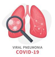Human lungs under viral pneumonia with covid 19 vector