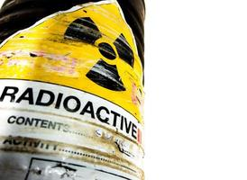 Steel container of Radioactive material photo