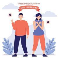 Deaf Couple Express Their Love vector
