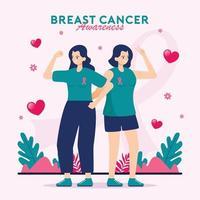 concepto de concientización sobre el cáncer de mama vector