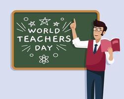 world teacher day  design template vector