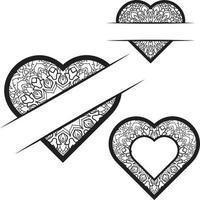Heart frame monogram vector