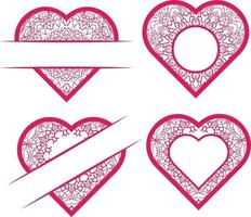 Collection Of Vector Hand Drawn Hearts  Vector