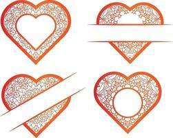 Collection Of Vector Hand Drawn Hearts set