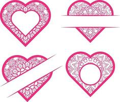 Vector Set Of Doodle Hearts Free Vector