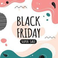 Black friday banner. Big Sale vector