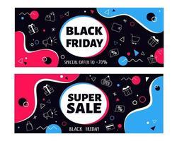 Black friday flyers. Big sale vector