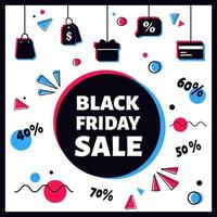 Black friday banner. Big sale. vector