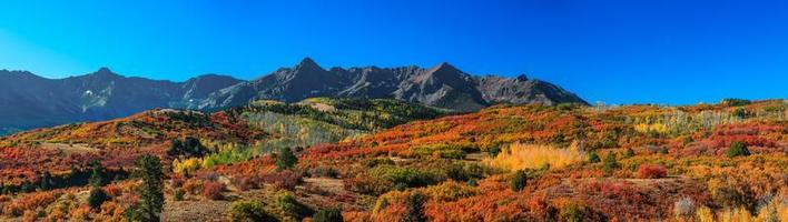 Scenic Mount Sneffels range at continental divide in Colorado photo