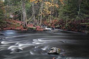 Running water at mid branch Ontonagon river in Michigan photo